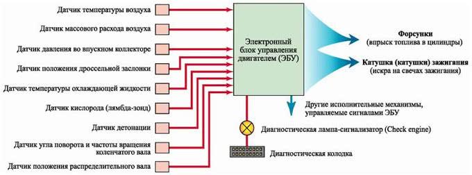 электронСхема  системы управления авто